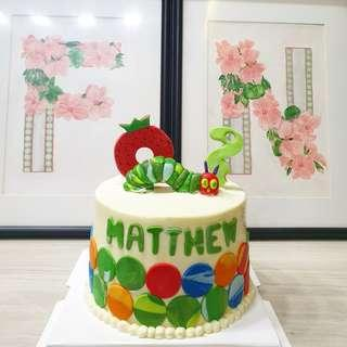 🚚 Hungry caterpillar customised cake