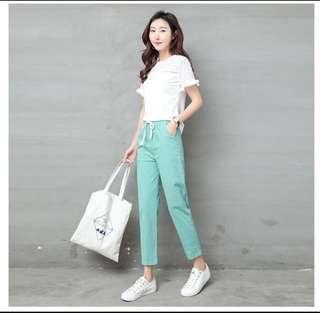 Cotton Linen Woman Pants