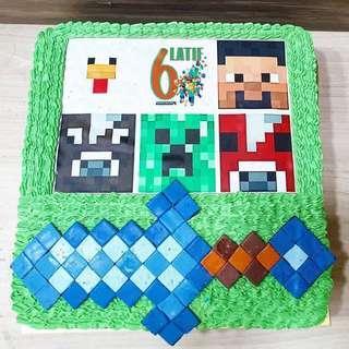 🚚 Minecraft customised cake