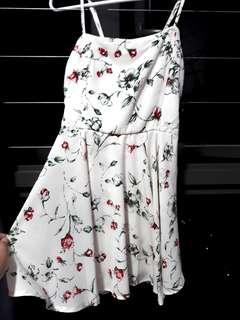 Creamy White Romper Dress