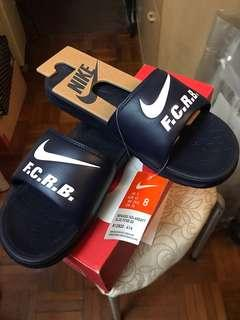 Nike fcrb 拖鞋 navy色 US8