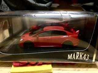 Mark43 FD2 Mugen RR red Mark 43 Honda Civic 日版 1/43 已停產