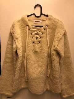 Stylenanda 羊羔絨 長袖 兩穿外套