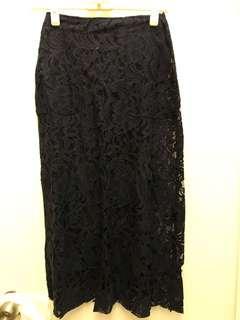 Stylenanda 包臀裙 Black Lace Skirt