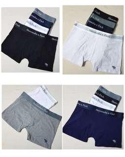 Abercrombie & Fitch boxer brief sizes from M - 2XL