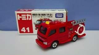 Morita Fire Engine Type CD-I 消防車 中製 Takara Tomy Tomica 41