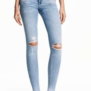 H&M Brand New Ripped Jeans