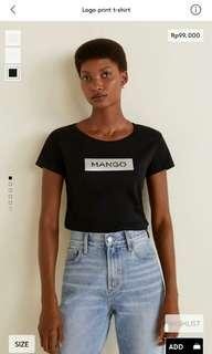 Logo print t-shirt mango woman original