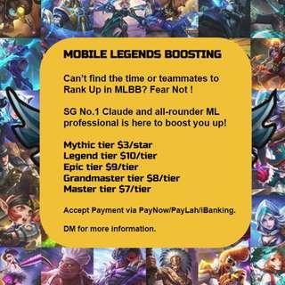Mobile Legends Rank Boosting