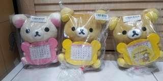 日本 Torbea 鬆弛熊 日曆 公仔(可轉2R相)