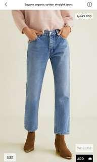 Vintage straight jeans woman mango original