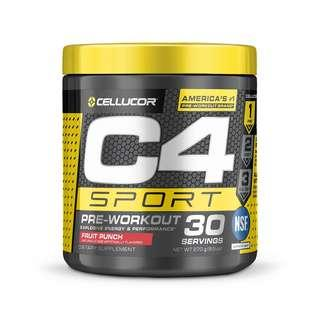 🚚 Free postage ! C4 Sport, Pre Workout, Cellucor Fruit Punch 270 g bcaa amino