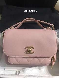 Chanel business affinity 粉紅牛皮