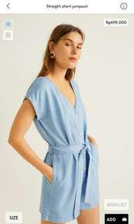 Straight short jumpsuit mango woman original