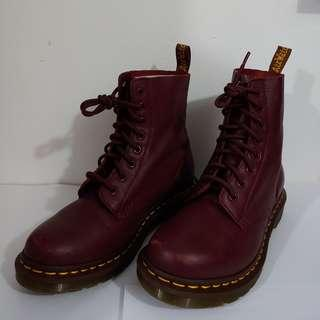 Dr. Martens Pascal Cherry Red Virginia Boots