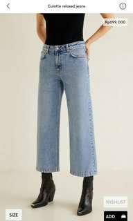 Culotte relaxed jeans mango woman original