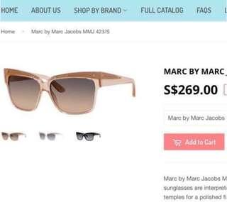 New Marc by MARC JACOBS CATEYE Sunglasses