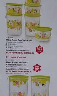 Tupperware Floral Raya One Touch Set