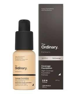 🚚 The Ordinary Coverage Foundation