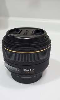 Sigma 30mm 1.4F DC HSM for Nikon