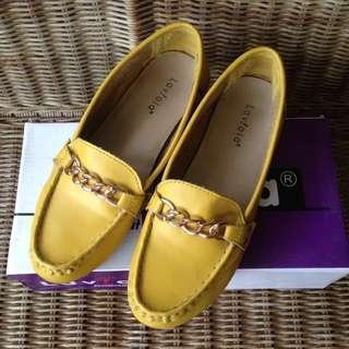 Laviola Yellow Flat Shoes