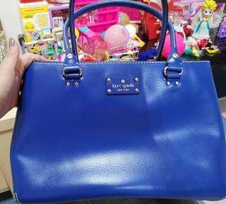 🚚 Kate Spade Top handle handbag in electric blue