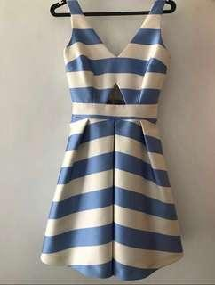 Striped party dress - Topshop