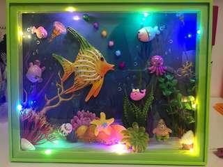Completed Sea Aquarium Display