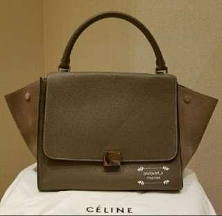 Celine Grey Large Trapeze Handbag