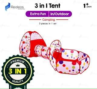 Foldable Pop Up Tent Kids - 3 in 1