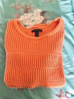 Tommy Hilfiger orange knit sweater