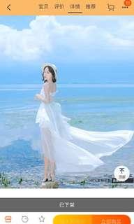 White Summer Layered Dress Beach #SNAPENDGAME