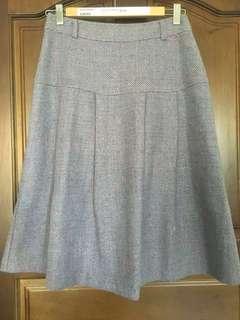 🚚 (斷捨離通通$50) Betty's 專櫃毛料藍紫色(薰衣草紫)摺裙