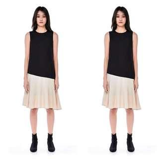 SG BRAND Asym Duotone Midi Dress (NEW without TAG)