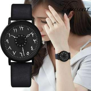 Jam Tangan Wanita Analog Leather Arabic Import