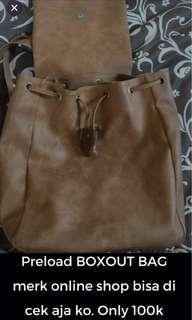 BOXOUT BAG KULIT COKLAT
