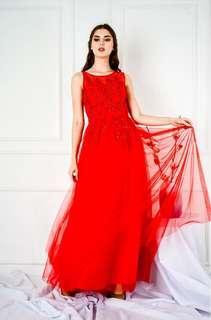 Long gown engagement dress