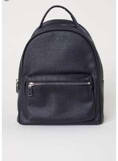 H&M mini leather backpack