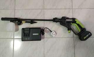 全新Worx WU629高壓無綫洗車機 6A快充版