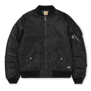 🚚 [XL號] CARHARTT WIP 黑色 軍裝 外套 鋪棉 超保暖 MA1 飛行外套 夾克 二手