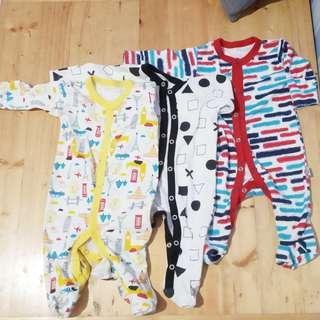 Libby Baby sleepsuit 0-3 month 1 set isi 3 baju