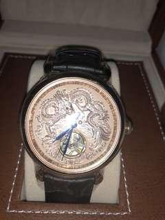 【MANLIKE曼莉萊克】全球限量 龍彫機械錶 金