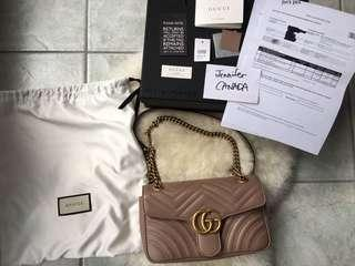 Gucci Marmont small nude antique rose