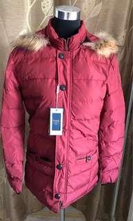 Menswear Wine red winter jacket (TB1183)