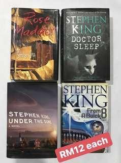 Preloved Hardcover Stephen King Books