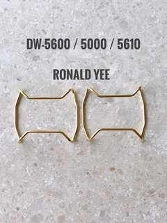 Custom GOLD metal bull bar for DW-5600   , dw5600 , protective cover , 5600 , gshock , g-shock , Casio , CASIO , Casio