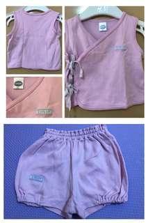 Enfant set purple top and shorts size 60