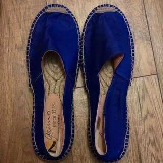 Royal blue espadrilles size 37 giamo