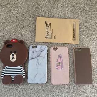 iPhone 6/6s cases and screen protector
