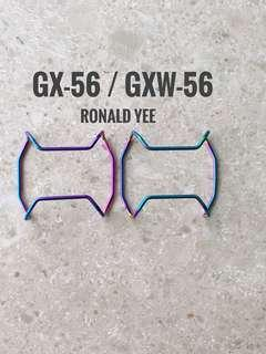 Custom iridescent / rainbow  metal bull bar for GXW-56   , GX-56 , protective cover , gx56 , gxw56  , gshock , g-shock , Casio , CASIO , Casio